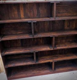 handcrafted pallet bookcase