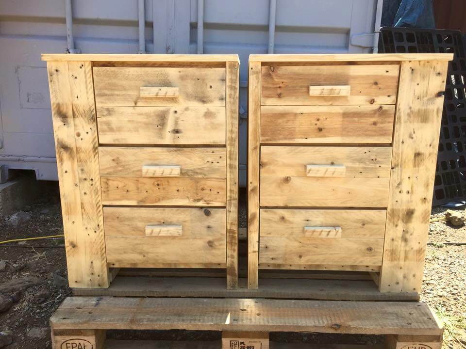 regained pallet dresser or chest of drawers