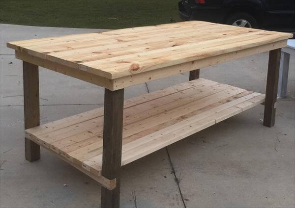 rustic wooden pallet farmhouse coffee table