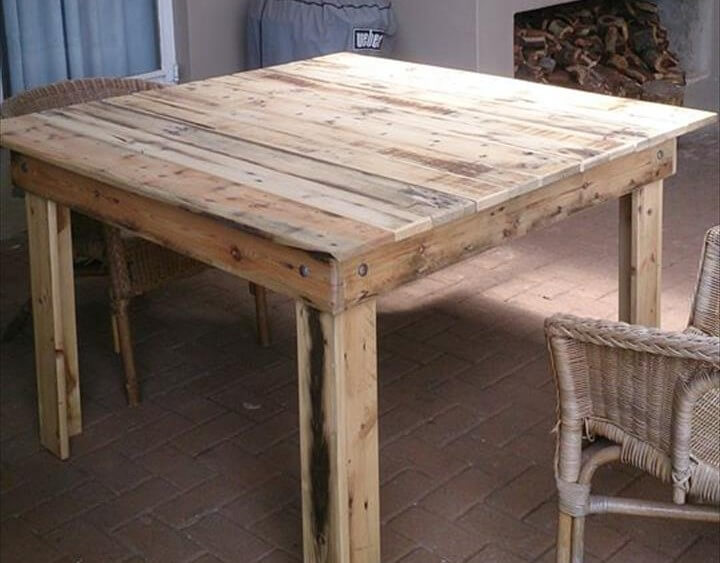 wooden pallet square coffee table