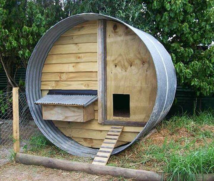 pallet and tank cat house
