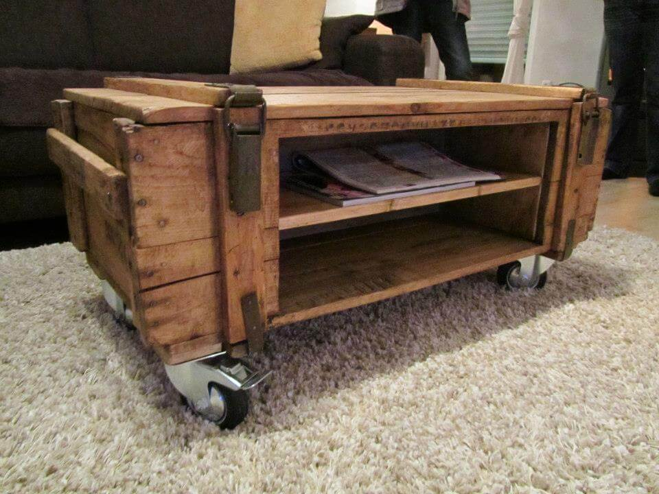 pallet coffee table. make a pallet coffee table with hairpin legs