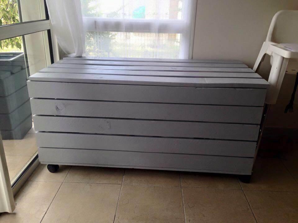 dark grey pallet large chest