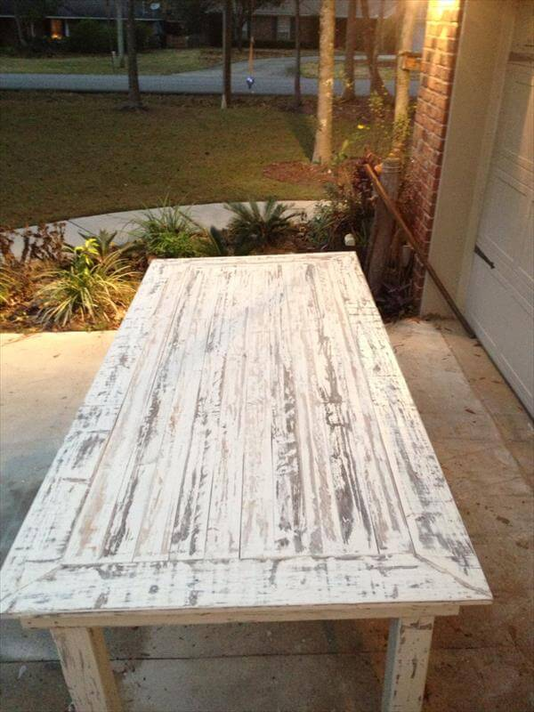 diy white painted pallet coffee table diy pallet white coffee table ...