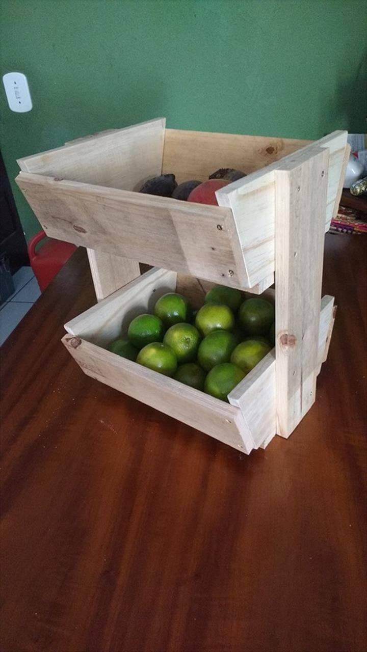 diy pallet fruit basket