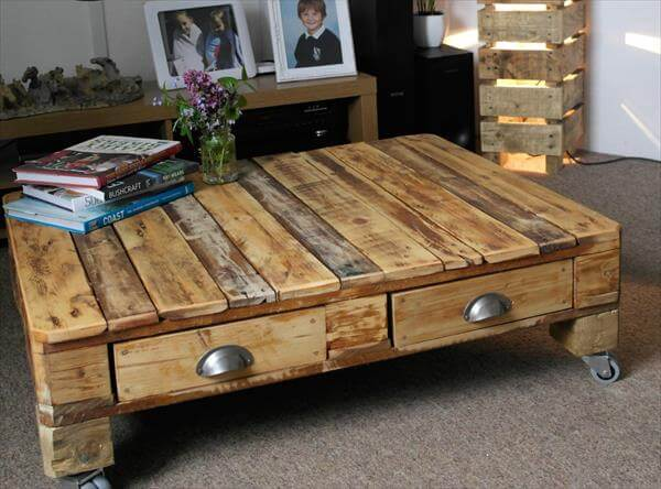 wooden pallet retro styled coffee table