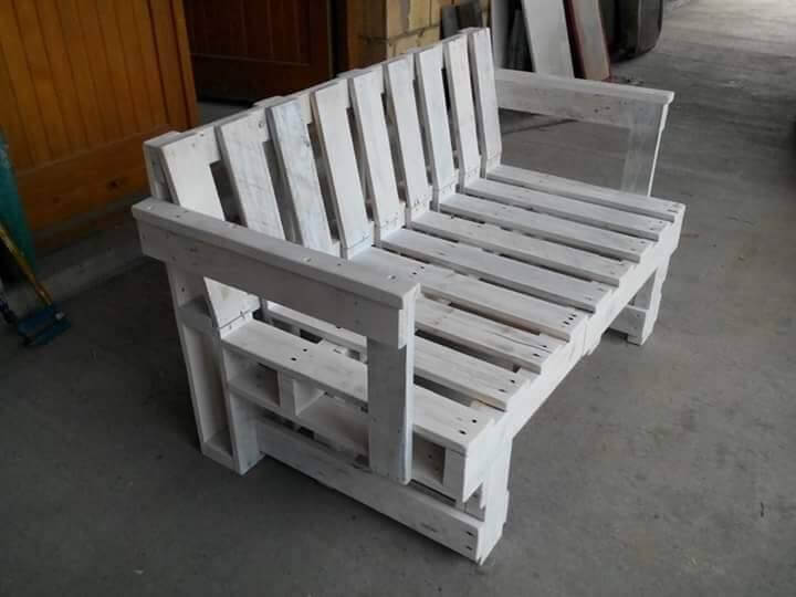 Repurposed pallet sofa