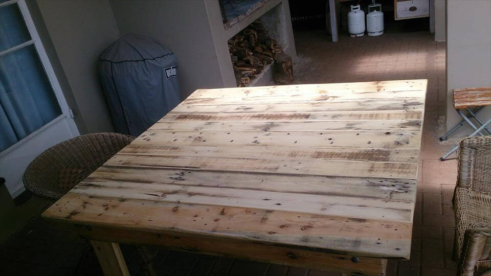 rustic pallet square coffee table