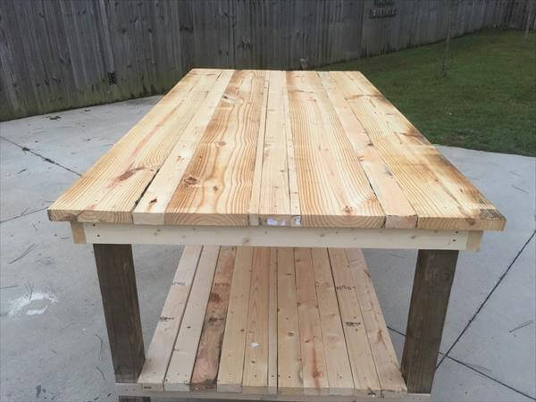 upcycled pallet primitive coffee table