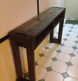 handcrafted pallet hall table