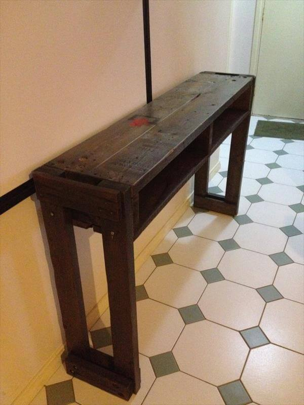 Foyer Table From Pallets : Pallet wood hall table furniture diy