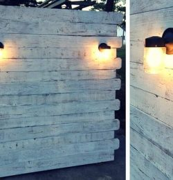 Wooden Pallet Headboard with Lights