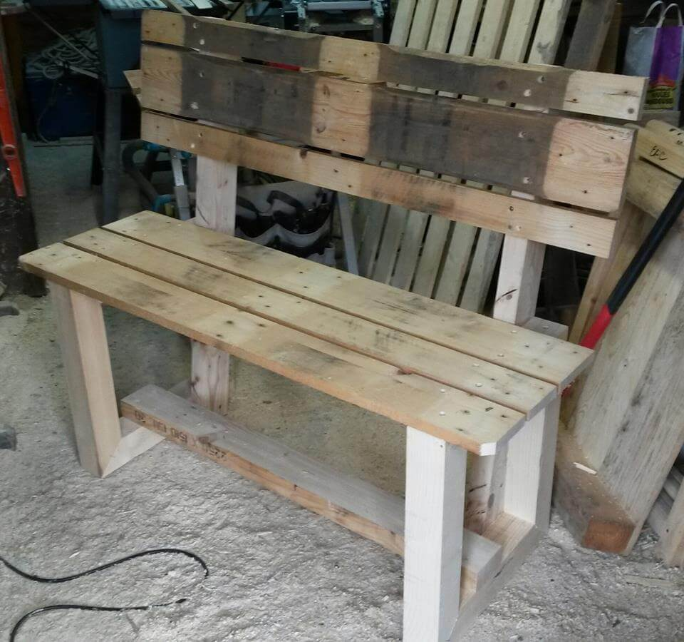 Rustic Inspired Wooden Pallet Bench Pallet Furniture Diy