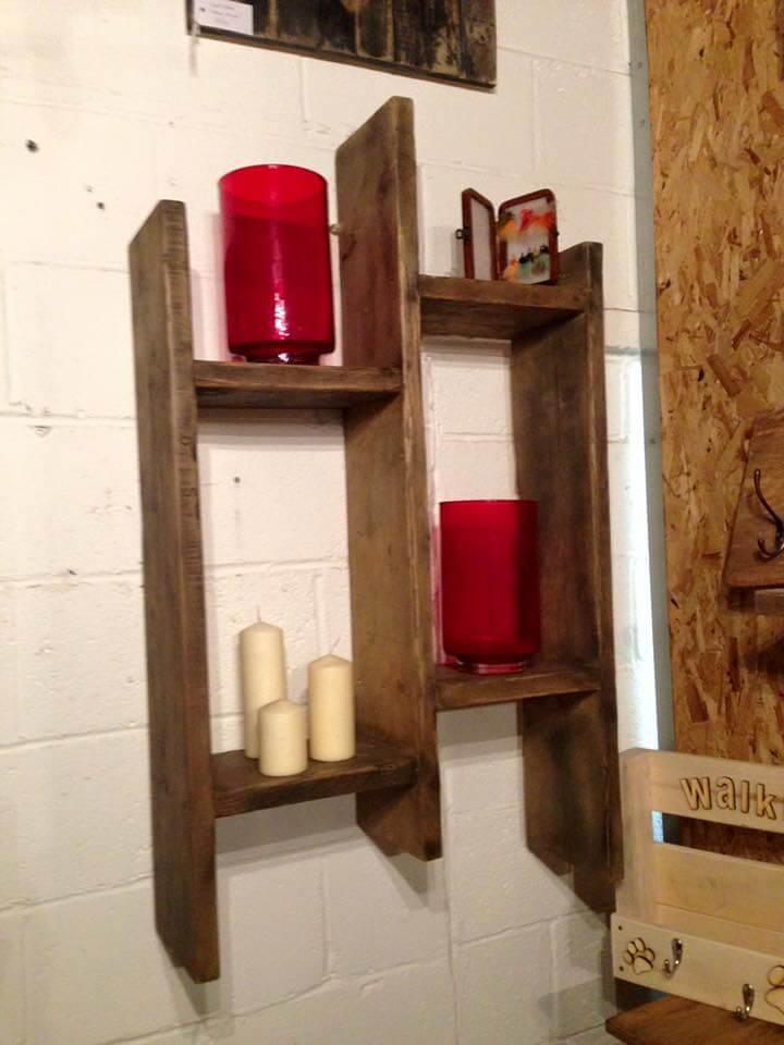 pallet wall mounted shelf