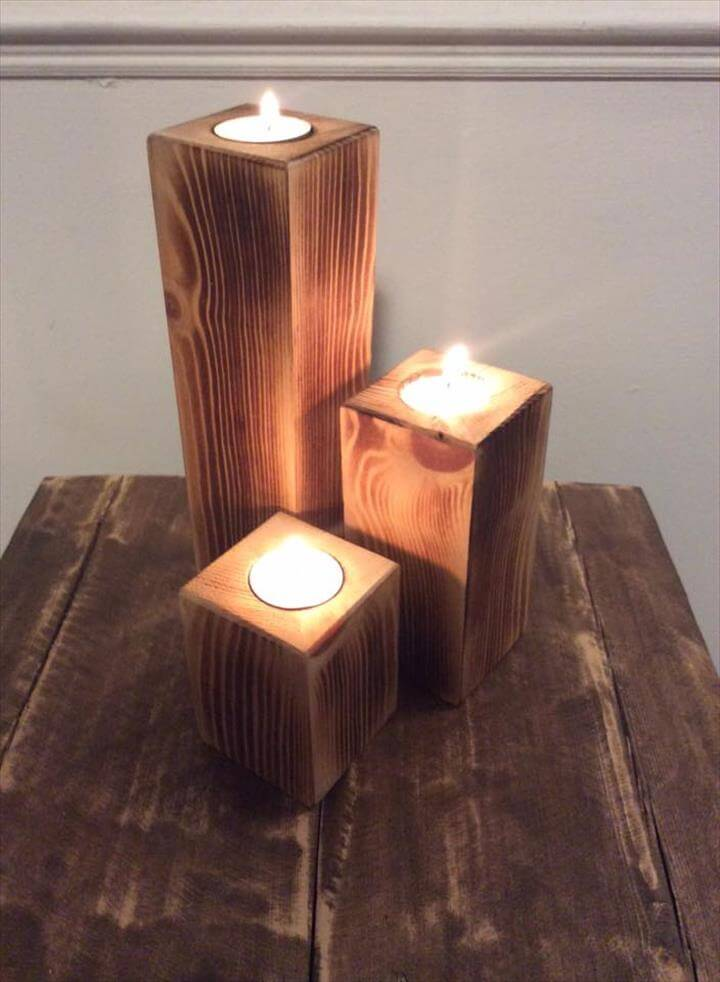 pallet candle holders easy to make pallet furniture diy