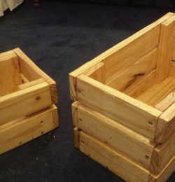 diy pallet crate boxes