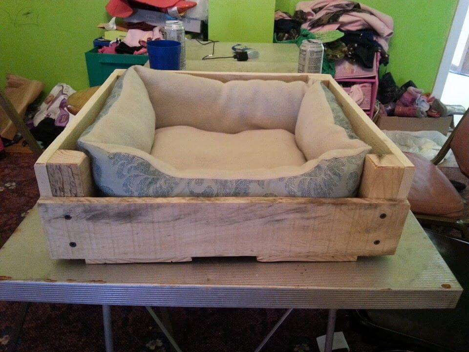 Wood Pallet Pet Bed / Dog Bed