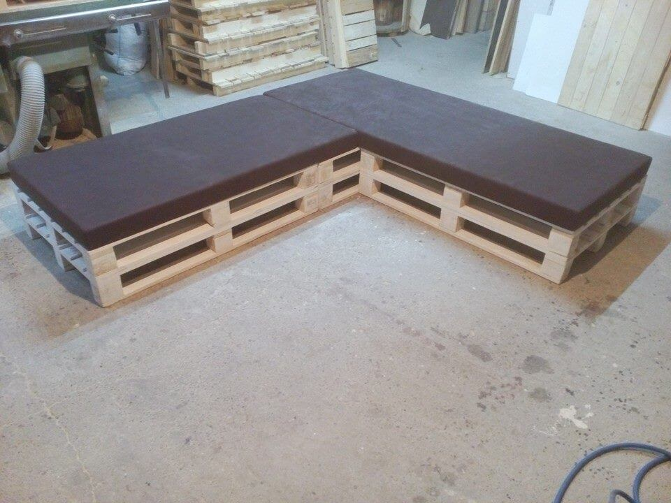 Pallet Sectional Cushioned Sofa Furniture DIY