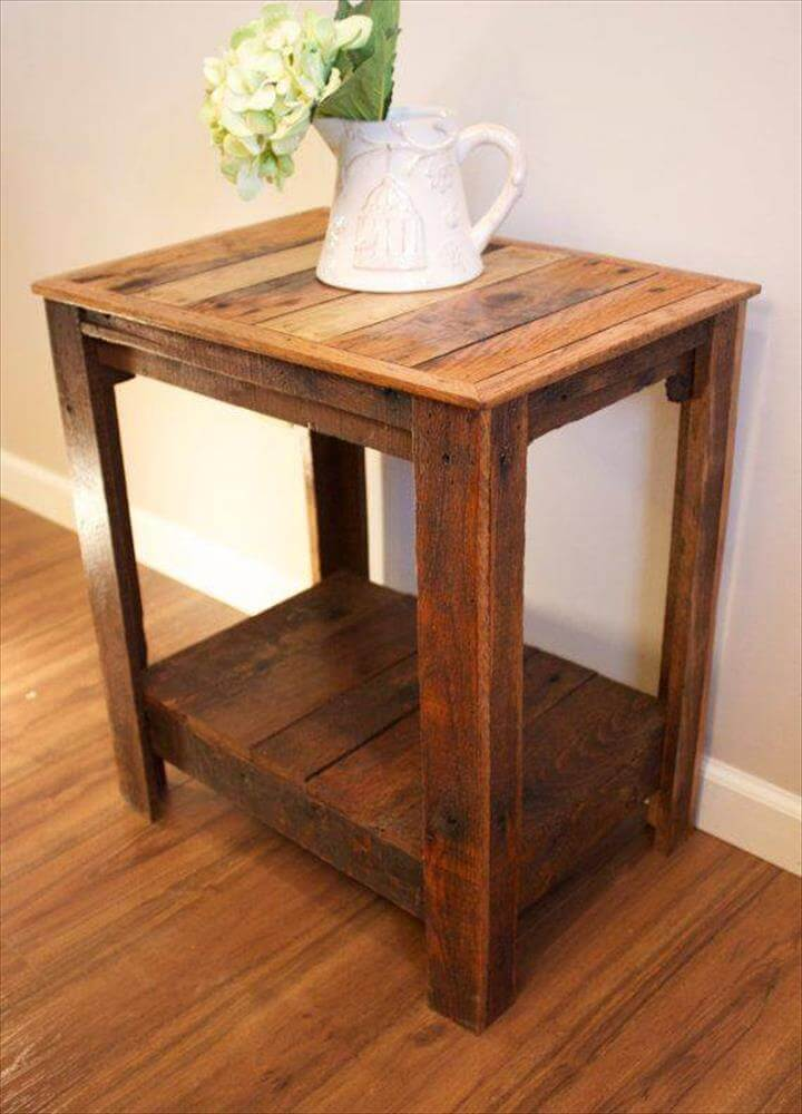 Wood Side Tables ~ Pallet wood side tables furniture diy