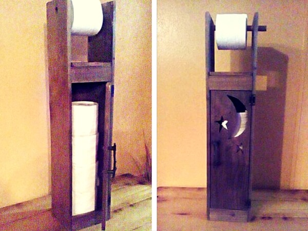 DIY Pallet Toilet Paper Roll Holder
