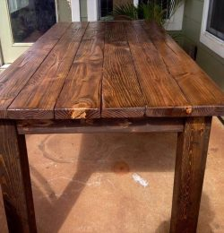 repurposed wooden pallet dining table