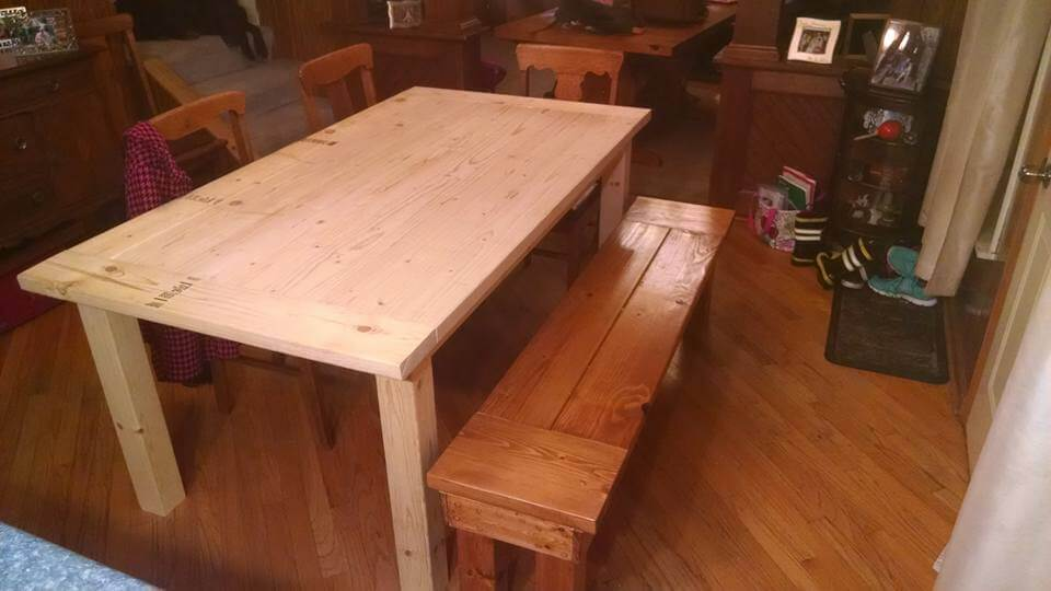 diy pallet dining set