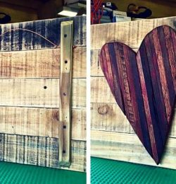 pallet heart wall art