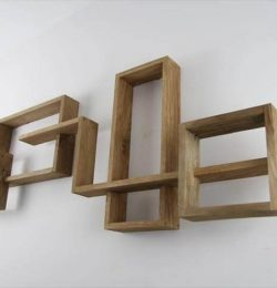 Wooden pallet shelf unit