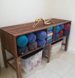 upcycle pallet storage rack