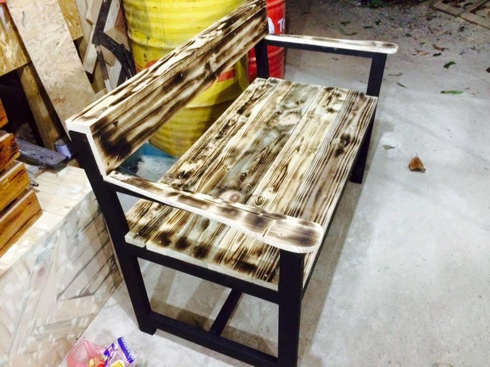 wooden pallet antique bench