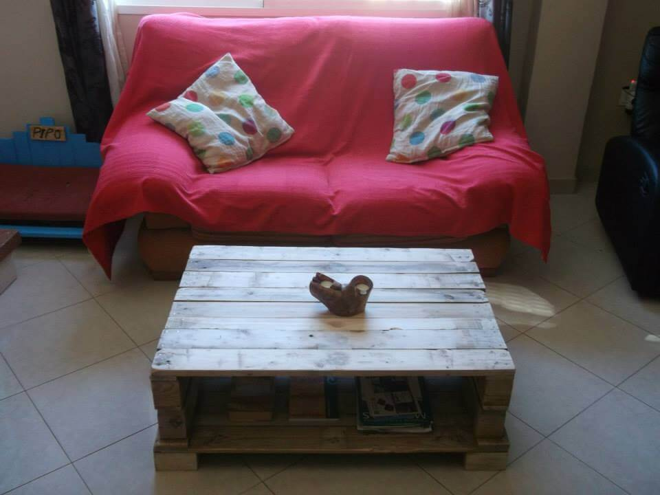 diy wooden pallet coffee table with storage