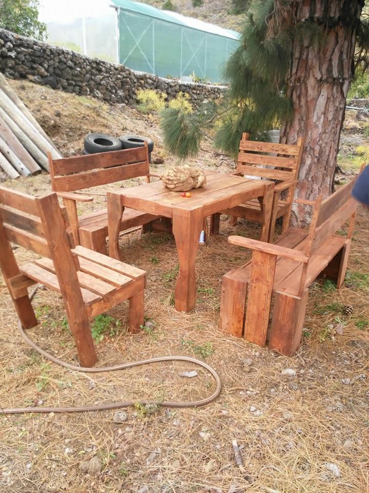 DIY Pallet Outdoor Furniture Set Pallet Furniture DIY