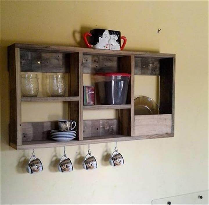 recycled pallet tea rack