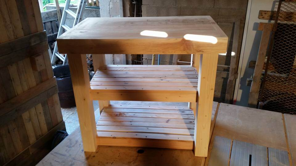 reclaimed pallet kitchen island