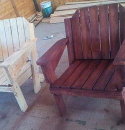 recycled pallet wooden chairs