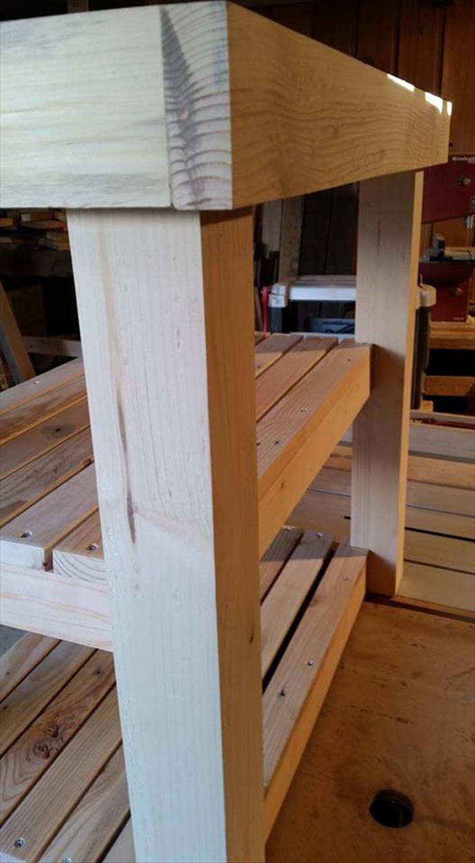 sturdy wooden pallet kitchen island