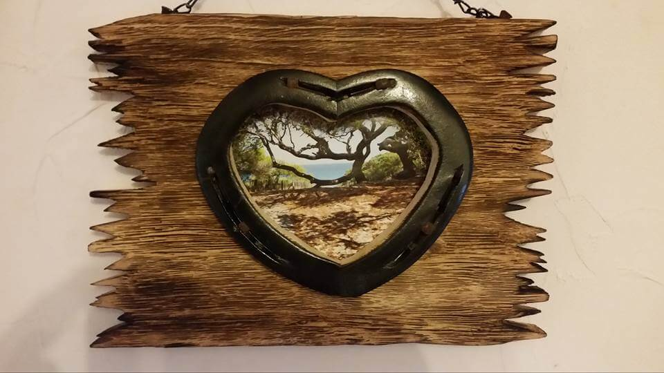 rustic wooden pallet heart wall frame