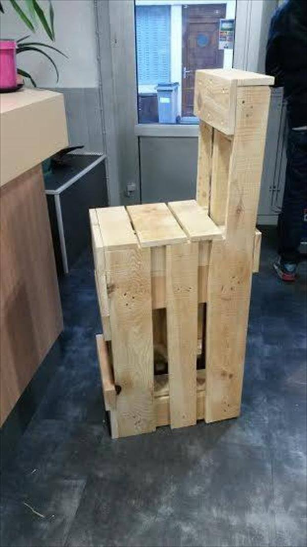 sturdy wooden pallet bar stool