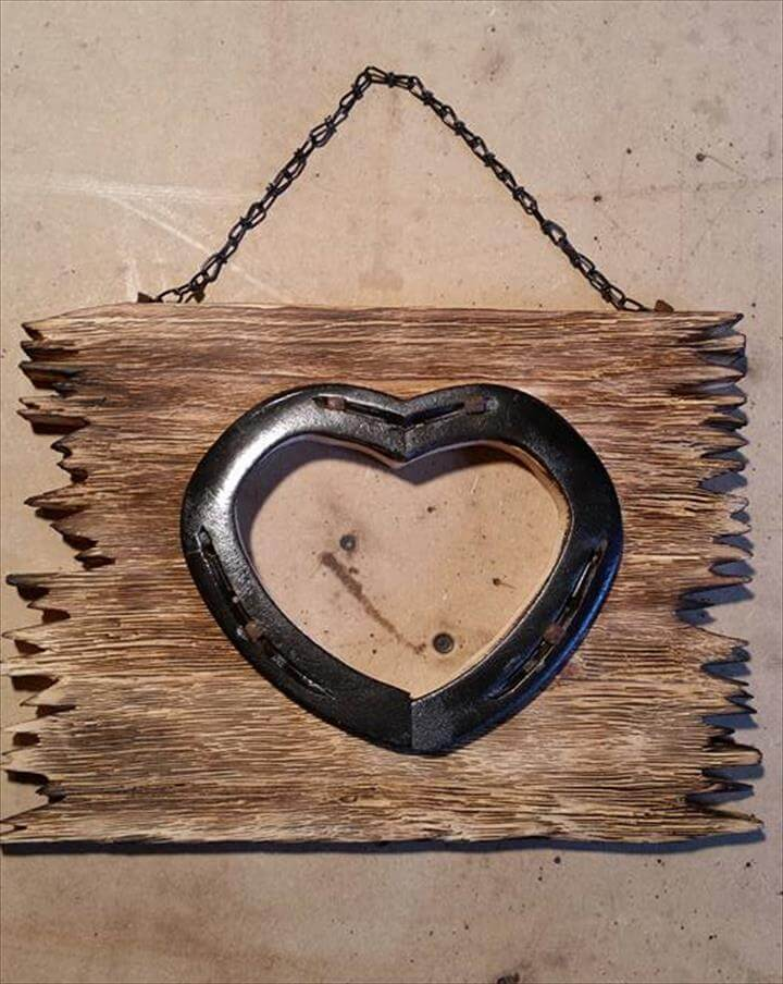 upcycled pallet antique heart wall art frame