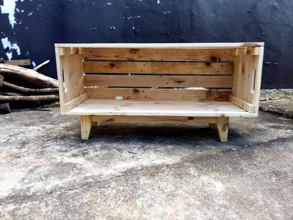 diy pallet crate box on legs