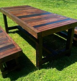 reclaimed pallet garden dining set