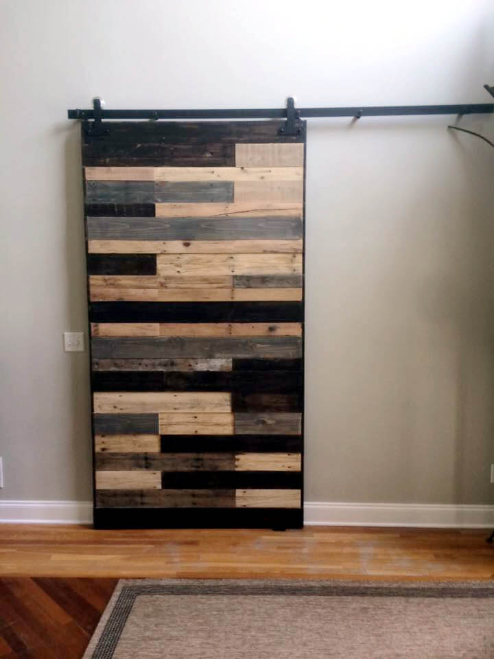 Pallet living room office sliding gate pallet for Living room furniture made out of pallets