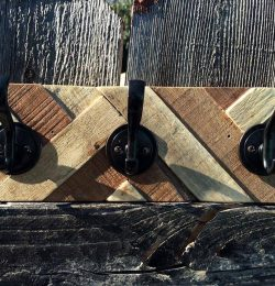 wooden pallet coat rack