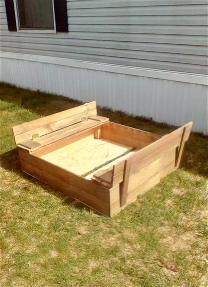 custom wooden pallet sandbox