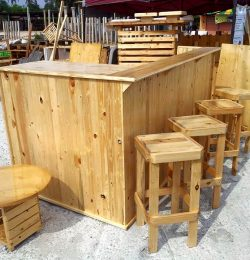 recycled wooden pallet outdoor bar furniture