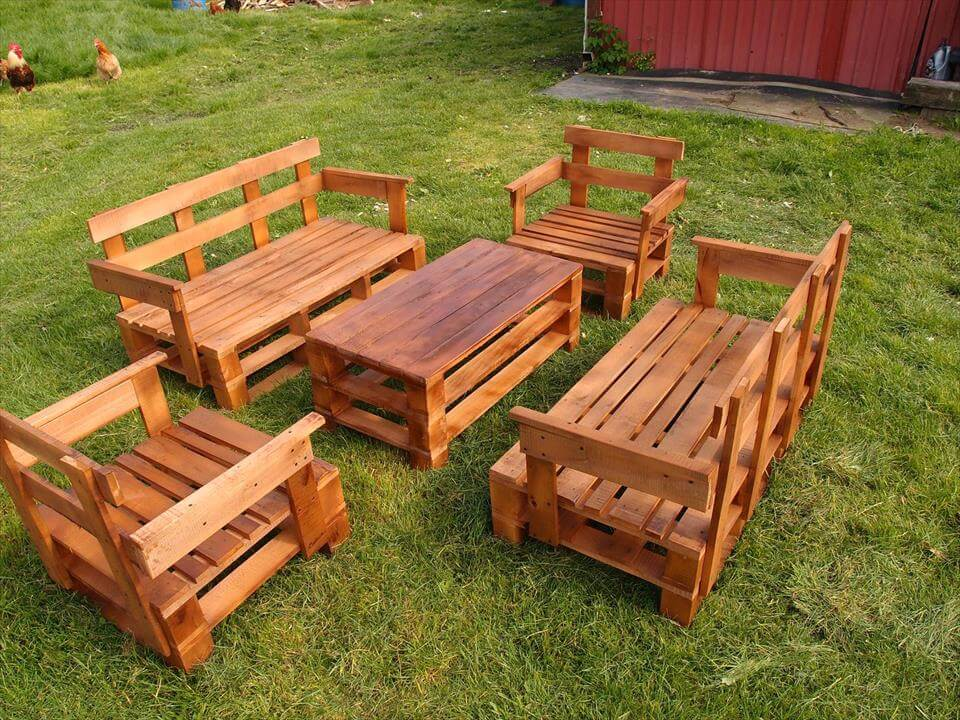 Upcycled Pallet Garden Furniture Set | Pallet Furniture DIY