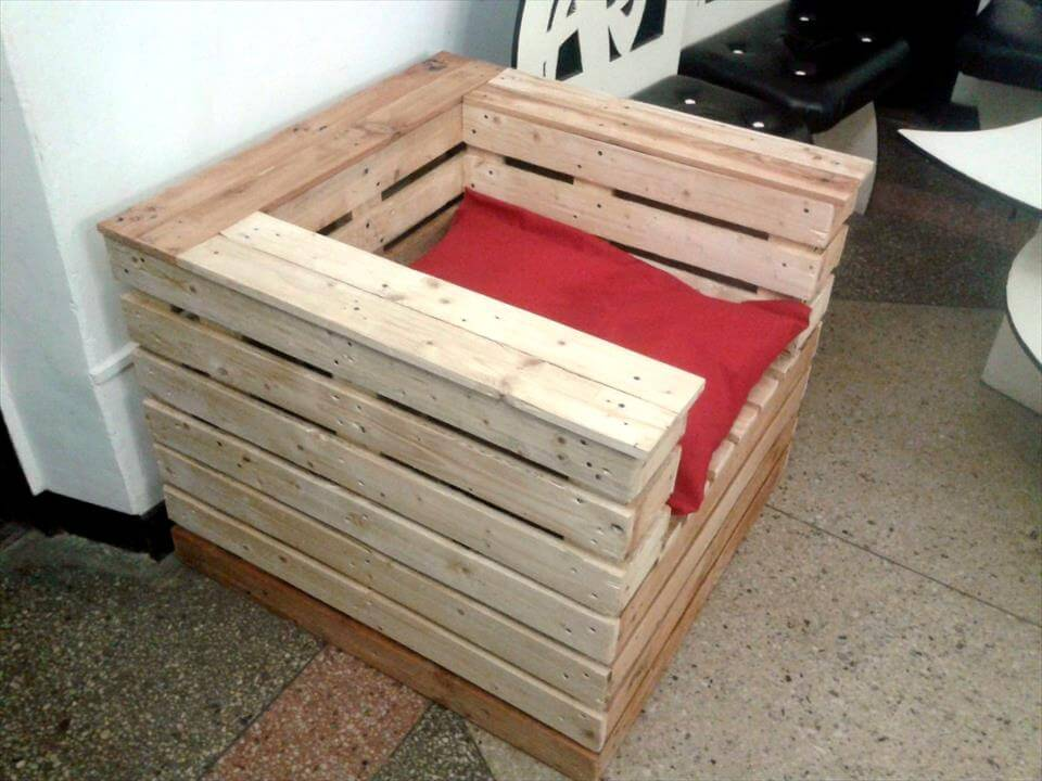 pallet made chair