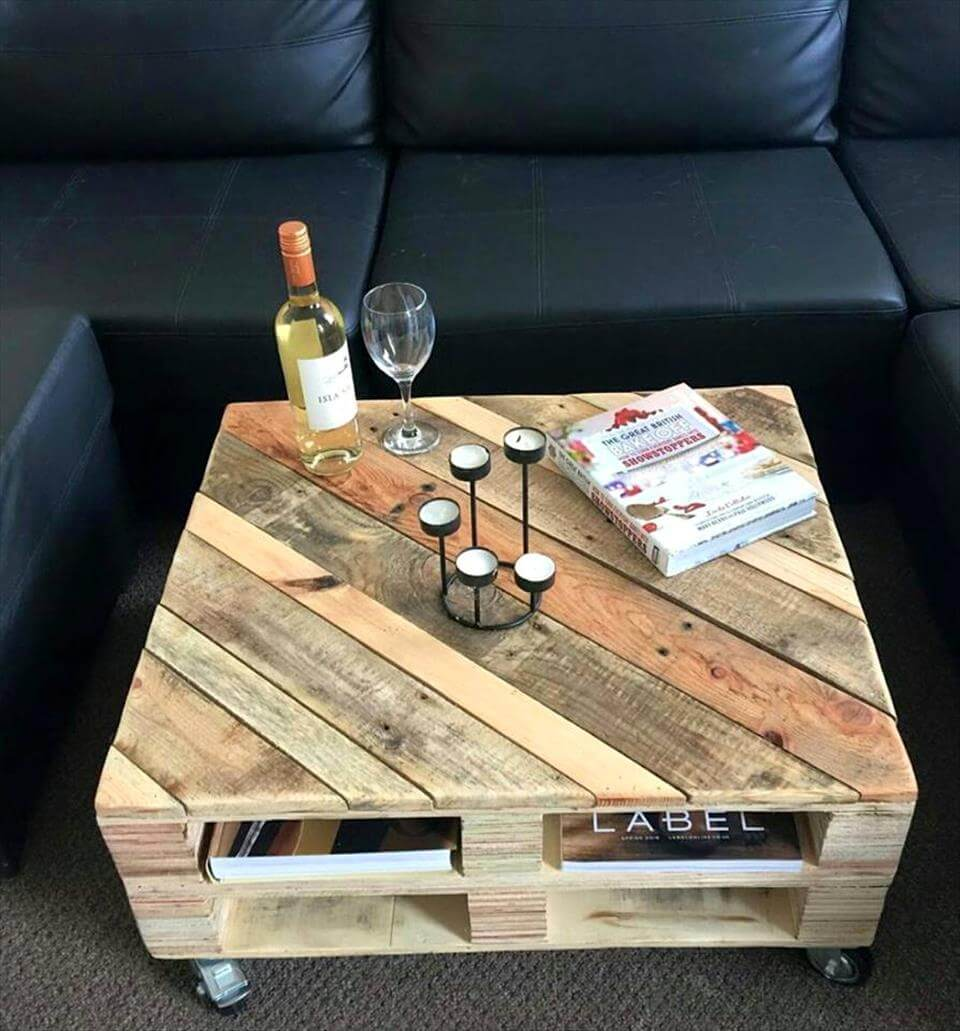 30 easy pallet ideas for the home pallet furniture diy for Table en palette
