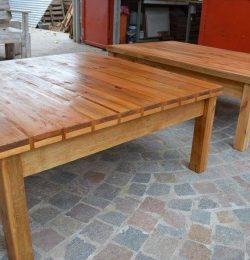 recycled pallet pair of coffee tables