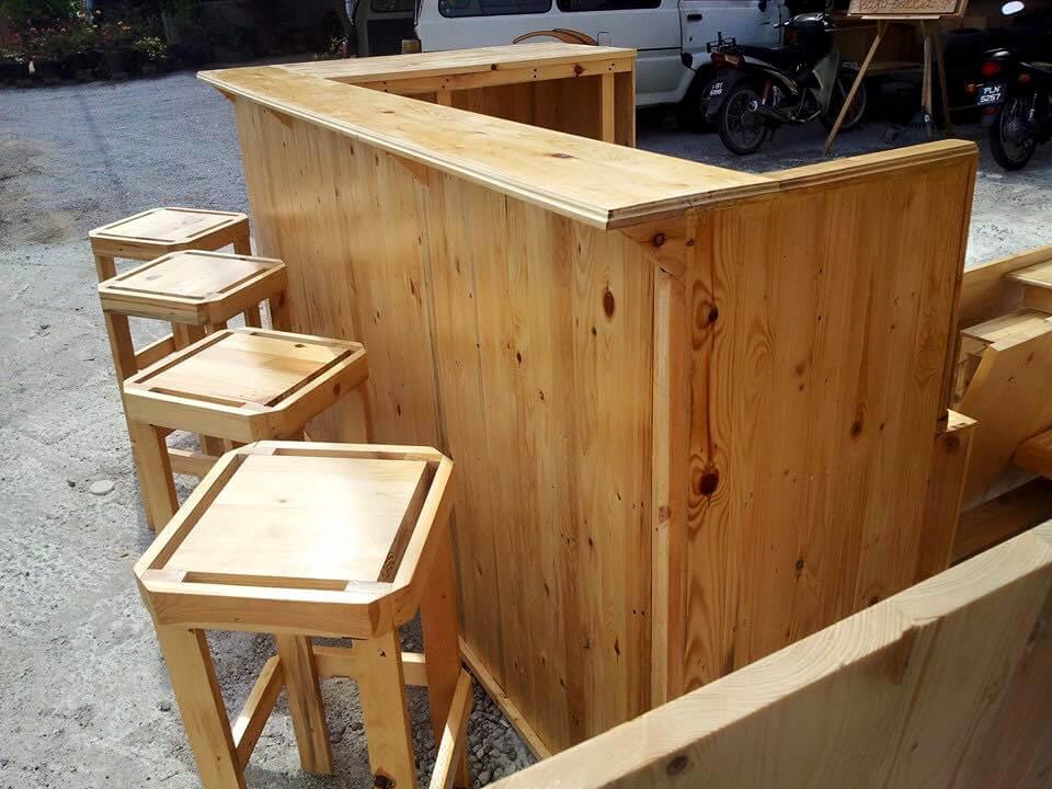 diy wooden pallet bar furniture